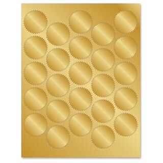 Geographics Gold Foil Seals - Gold (200/Pack)