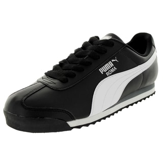 Puma Men's Roma Basic Black/White/Puma Silver Casual Shoe