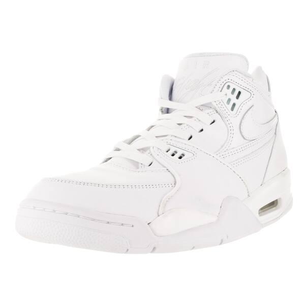Templado asesinato Arqueología  Nike Men's Air Flight 89 Le Qs White/White/White Basketball Shoe -  Overstock - 12118106