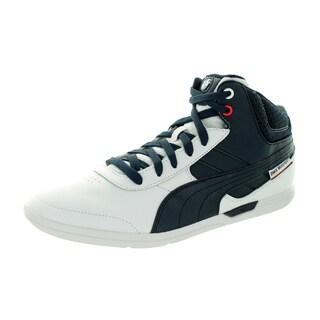 Puma Men's Bmw Ms Mch Mid White/Bmw Team Blue Casual Shoe