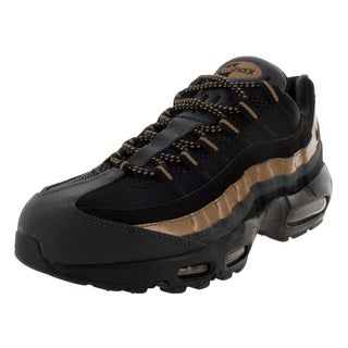 Nike Men's Air Max 95 Prm Black/Black/Mlc Gold/Anthracite Running Shoe