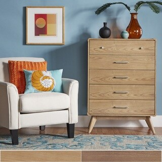 Penelope Danish Modern Curved 5-drawer Chest iNSPIRE Q Modern (2 options available)