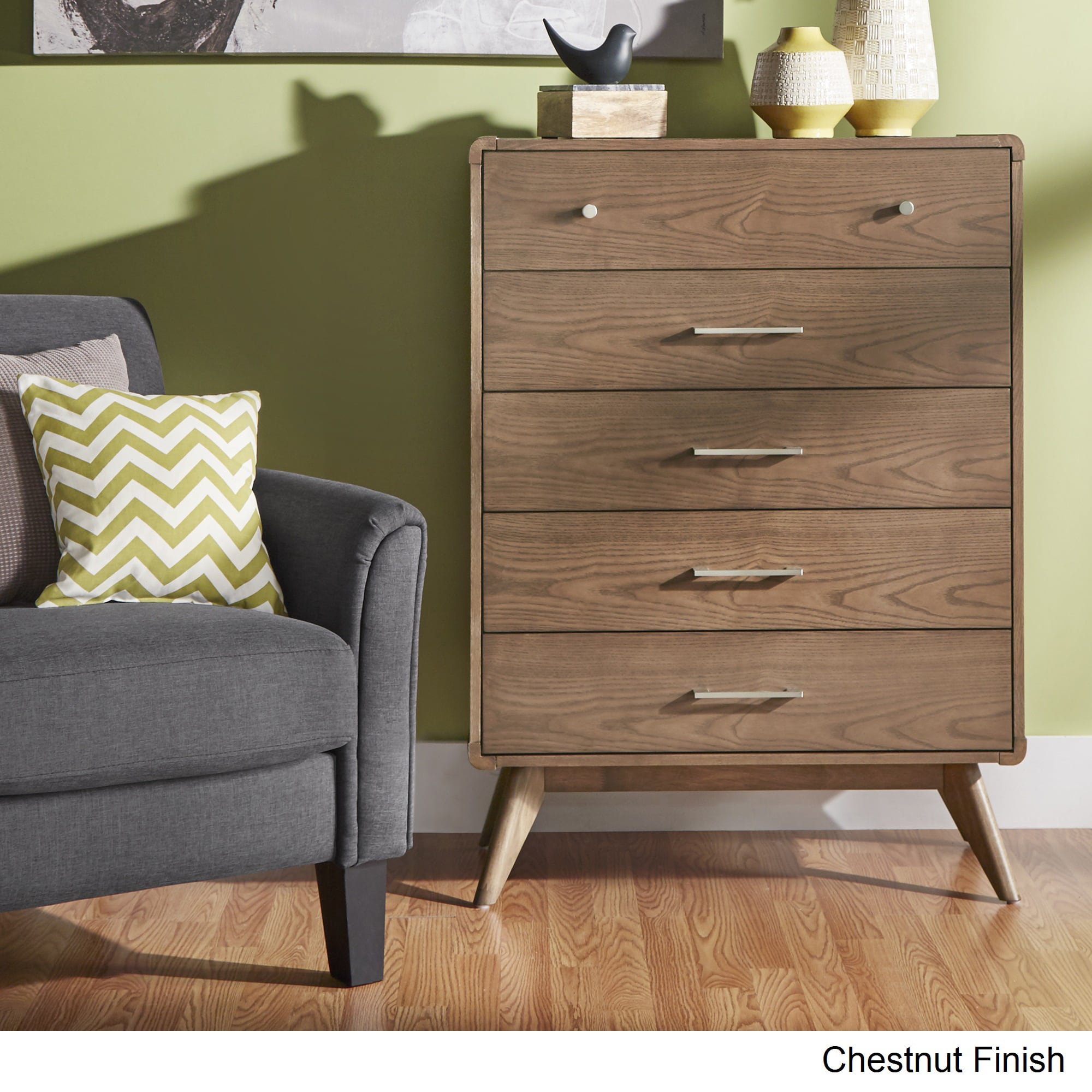 Penelope Danish Modern Curved 5-drawer Chest iNSPIRE Q Mo...