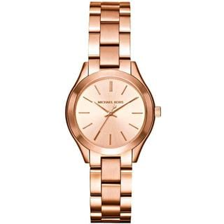 Michael Kors Women's MK3513 SMini Rose Stainless Steel Slim Runway Watch