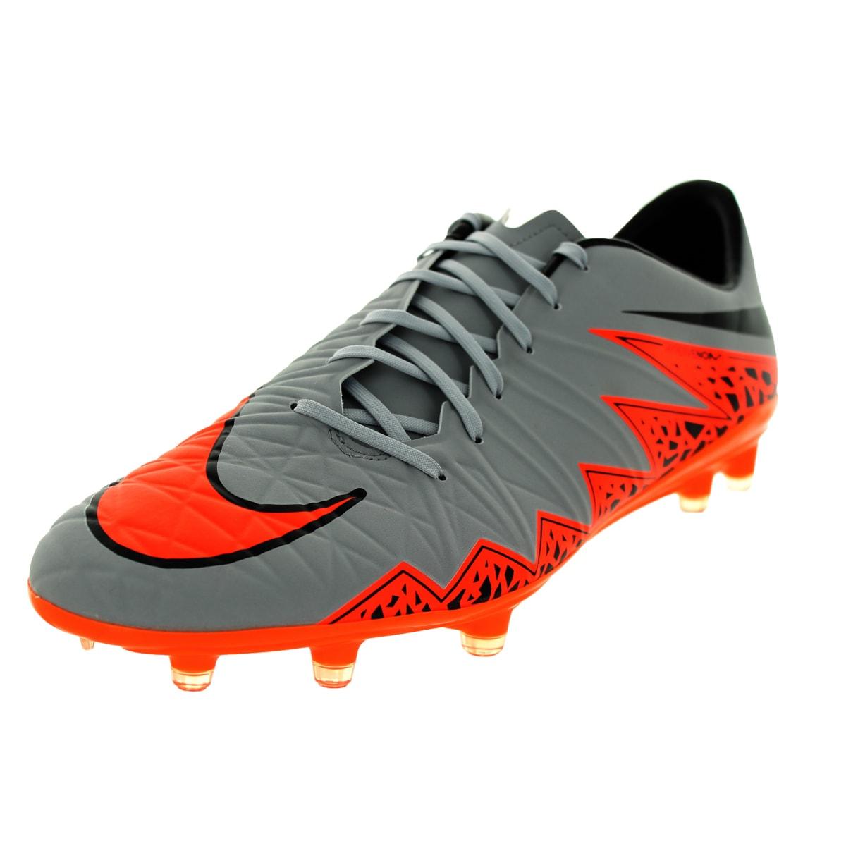 Nike Men's Hypervenom Phatal Ii Fg Wolf Grey/Total Orange...
