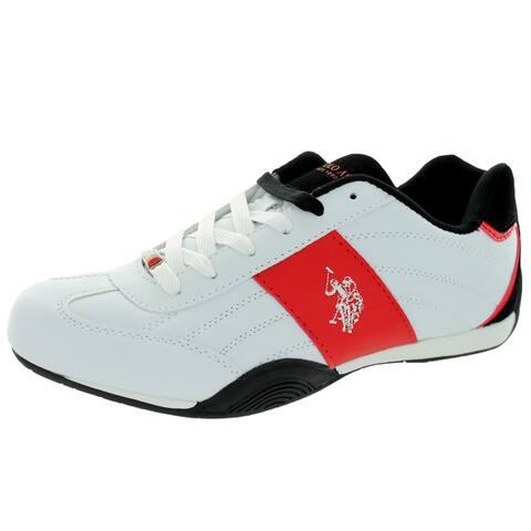 U.S. Polo Assn. Men's Sparrow White/Black/Red Casual Shoe