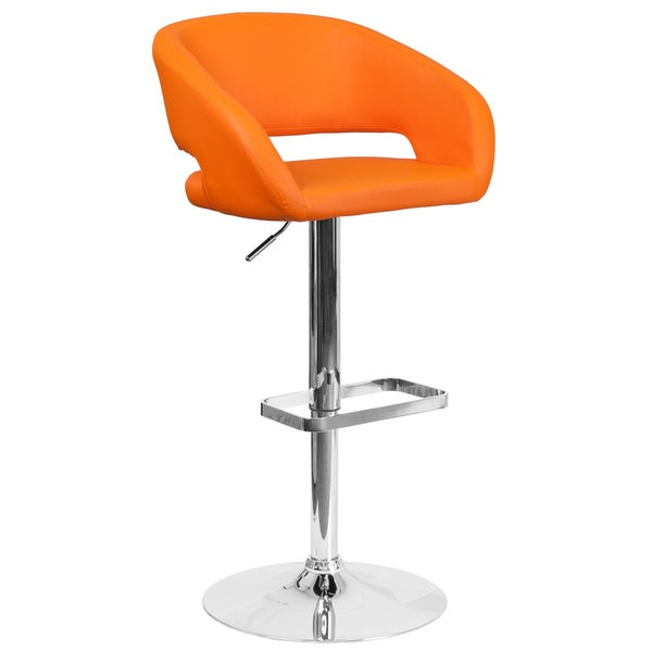 Contemporary Adjustable Height Barstool with Chrome Base  : Adjustable Barstool 815a73b9 7ac5 47ac b22b eed6d235dad1600 from www.overstock.com size 600 x 600 jpeg 11kB