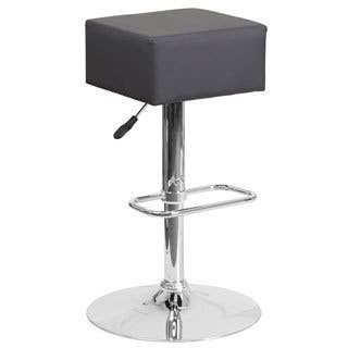 Contemporary Vinyl Adjustable Height Barstool with Chrome Base (Option: White)|https://ak1.ostkcdn.com/images/products/12118323/P18978332.jpg?impolicy=medium