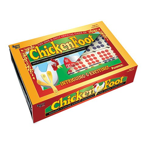 ChickenFoot Professional Size Double 9-color Dot Dominoes - Professional Size