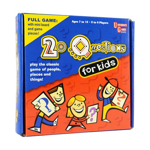 University Games 20 Questions for Kids Pocket Travel Game - Red/Blue