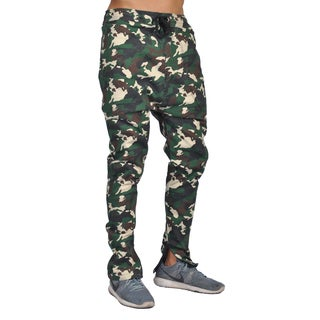 Dirty Robbers Men's Green Cotton Camoflage Jogger Pants
