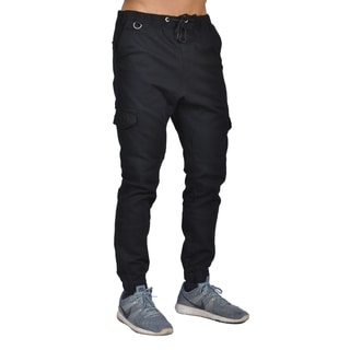Dirty Robbers Men's Black Cotton/Spandex 6-pocket Joggers
