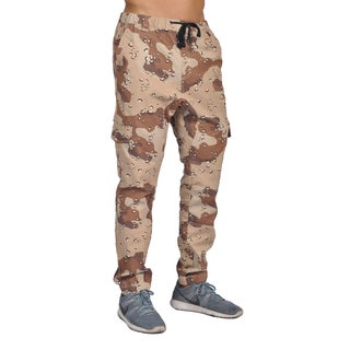 Dirty Robbers Men's Camo Brown Cotton/Spandex 6-pocket Joggers