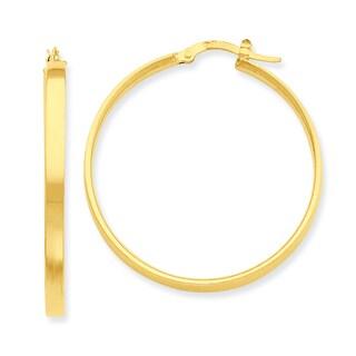 Versil 14k Yellow Gold Hoop Earrings