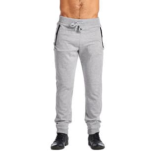 Indigo People Men's Olive Cotton/Polyester 2-zip Joggers|https://ak1.ostkcdn.com/images/products/12118531/P18978463.jpg?impolicy=medium