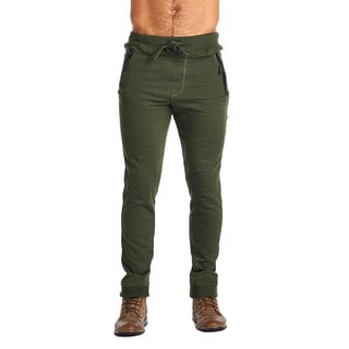 Indigo People Olive Cotton/Polyester 2-zip Joggers
