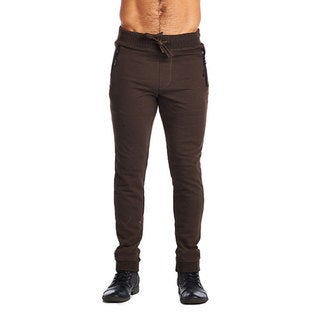 Indigo People Men's Brown Cotton and Polyester Two-zip Joggers (2 options available)