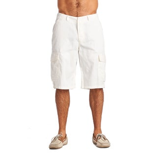 OTB Men's ZW White Cotton/Polyester Cargo Shorts