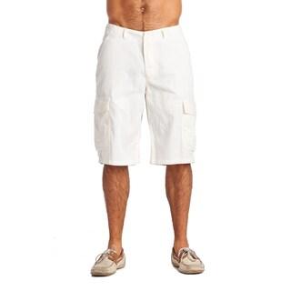 OTB Men's ZW White Cotton/Polyester Cargo Shorts