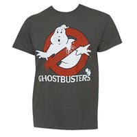 Ghostbusters Men's Grey Cotton Movie Logo T-Shirt