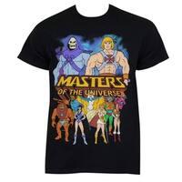 Men's He-Man Masters Of The Universe Black Cotton Logo T-shirt