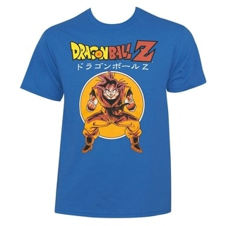 Dragon Ball Z Men's Retro Goku Blue Cotton Polyester T-Shirt