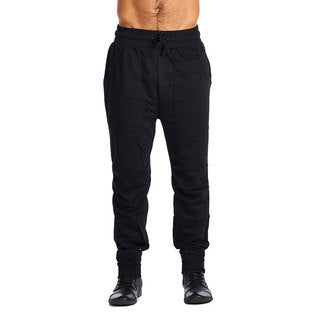 ARSNL Men's Black Cotton-Polyester Active-wear Pants