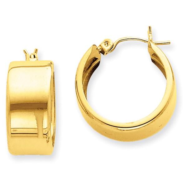 Shop Versil 14 Karat Yellow Gold Hoop Earrings Free Shipping Today