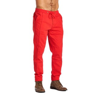 OTB Men's Red Cotton and Polyester Active Wear Pants (2 options available)