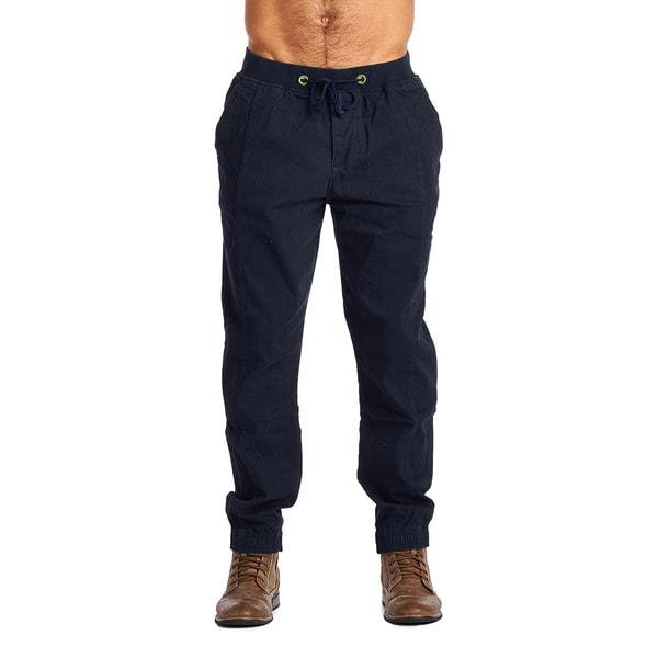 OTB Men's Navy Cotton/Spandex Joggers