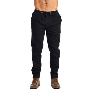 OTB Men's Black Cotton/Spandex Joggers