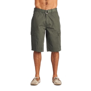 OTB Men's Olive Cotton Cargo Shorts