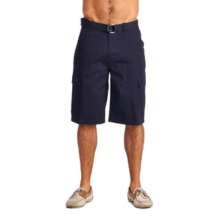 OTB Men's Navy Cotton Cargo Shorts