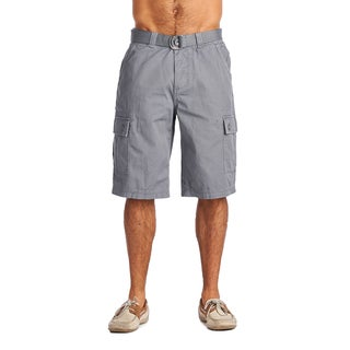 OTB Men's Grey Cotton Cargo Shorts