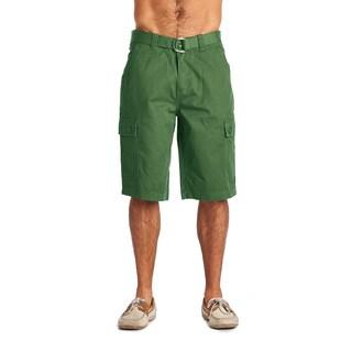 OTB Men's Green Cotton Cargo Shorts