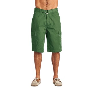 OTB Men's Green Cotton Cargo Shorts