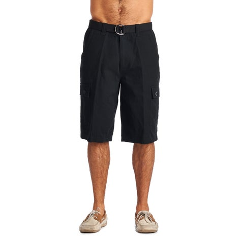 OTB Men's Black Cotton Cargo Shorts