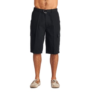 OTB Men's Black Cotton Cargo Shorts