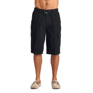 OTB Men's Black Cotton Cargo Shorts (Option: 32)