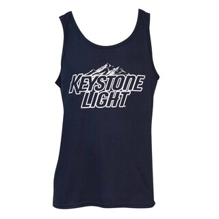 Keystone Light Men's Blue Cotton Graphic Tank Top