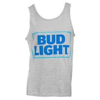 Men's Bud Light Grey Cotton Tank Top