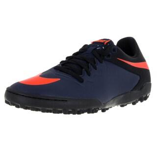 Nike Men's Hypervenomx Pro Tf Mid Navy/Orange/Black/Gm Lght B Turf Soccer Shoe