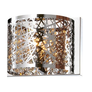 Bromi Design Royal Chrome Metal/Crystal 1-light Wall Sconce