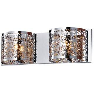 Bromi Design Royal Chrome Metal/Crystal 2-light Wall Sconce