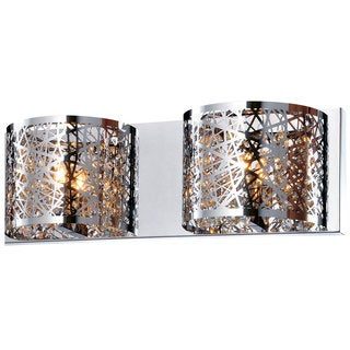 Bromi Design Royal Chrome Metal/Crystal 2-light Wall Sconce