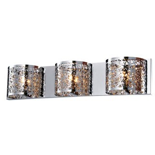 Bromi Design Royal Chrome Metal/Crystal 3-light Wall Sconce