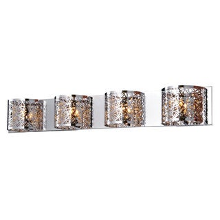 Bromi Design Royal Silvertone Crystal/Metal 4-light Wall Sconce