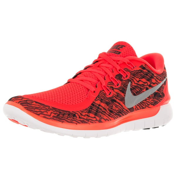 615c6a70e5917 Shop Nike Men s Free 5.0 Print Brightt Crimson Black White Running ...