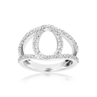 SummerRose 14k White Gold 5/8ct TDW Contemporary Split-Shank Diamond Ring