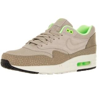 Nike Men's Air Max 1 Prm String/String/Dsrt Cm/Green Running Shoe